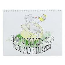 OTC Billiard Mouse Cartoon Wall Calendar