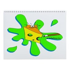 Funny Billiard Mouse Splat Cartoon Wall Calendar