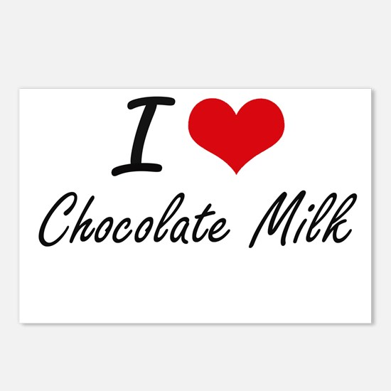 I love Chocolate Milk Postcards (Package of 8)
