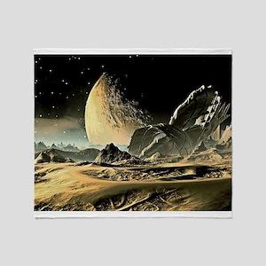 Alien Spaceship Throw Blanket