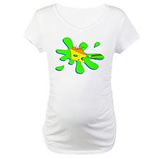 Funny Billiard Mouse Splat Carto Maternity T-Shirt