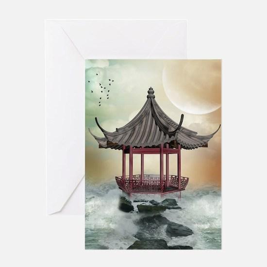Oriental Gazebo Greeting Card