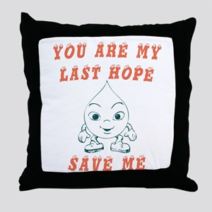 Save water request Throw Pillow
