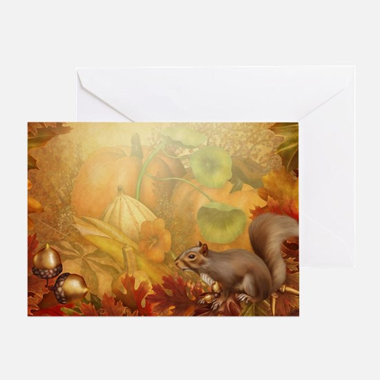 Thanksgiving Squirrel Greeting Card
