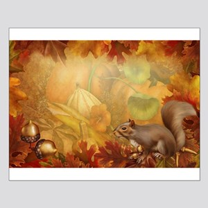Thanksgiving Squirrel Small Poster