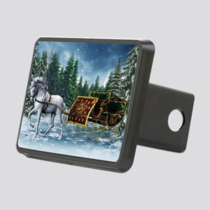 Christmas Sleigh Rectangular Hitch Cover