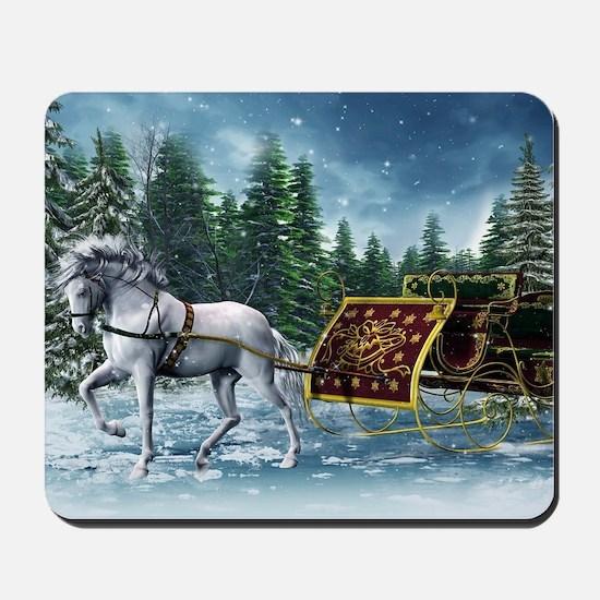Christmas Sleigh Mousepad