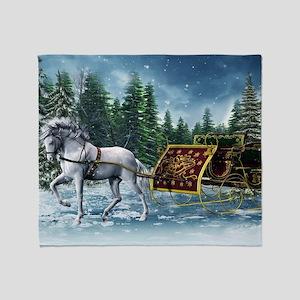 Christmas Sleigh Throw Blanket