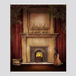 Classic Fireplace Small Poster