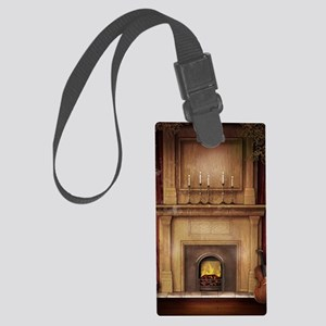 Classic Fireplace Large Luggage Tag