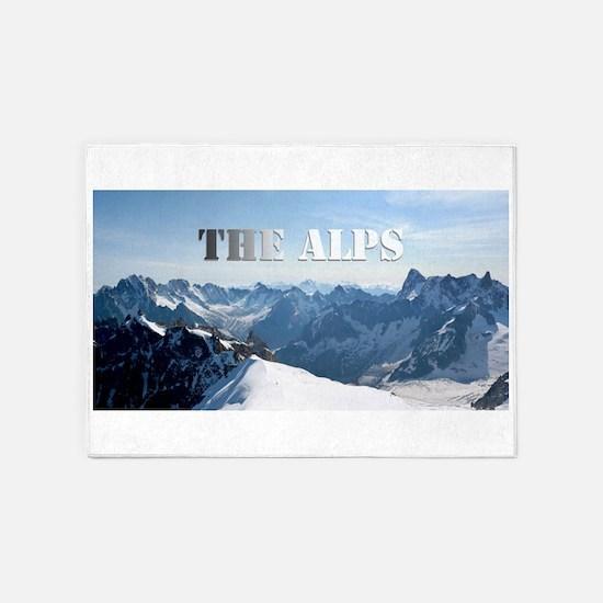 The Alps - Pro Photo 5'x7'Area Rug