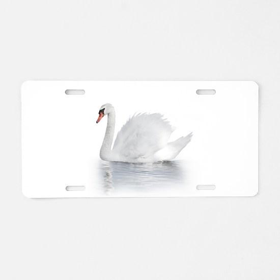 White Swan Aluminum License Plate