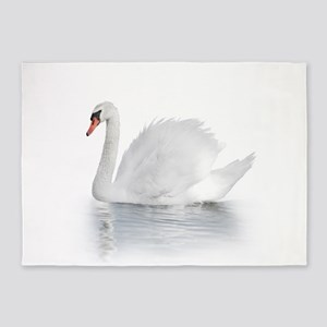 White Swan 5'x7'Area Rug