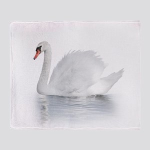 White Swan Throw Blanket