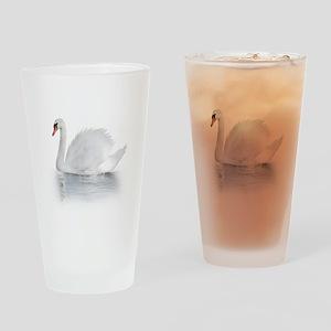 White Swan Drinking Glass