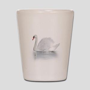 White Swan Shot Glass