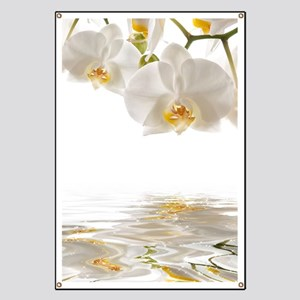 White Orchids Banner