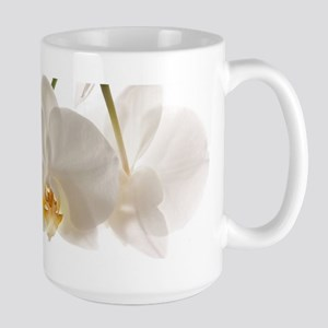 White Orchids Large Mug