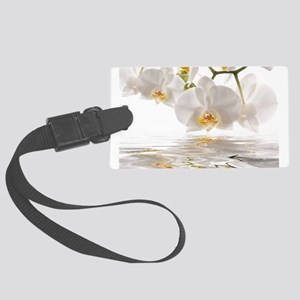 White Orchids Large Luggage Tag