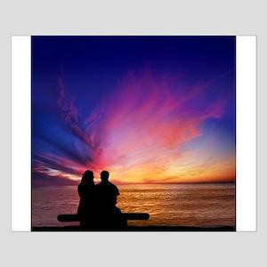 Romantic Sunset Small Poster