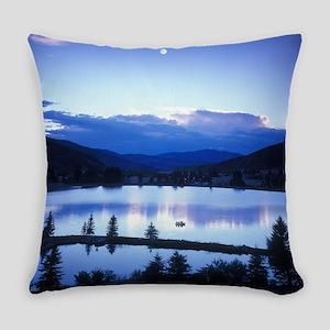 Mountain Lake Everyday Pillow