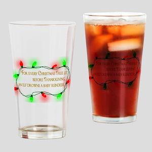 Elfing Christmas Drinking Glass