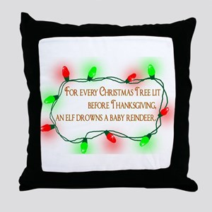 Elfing Christmas Throw Pillow