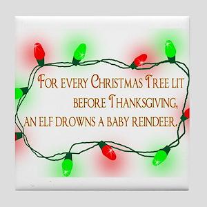 Elfing Christmas Tile Coaster