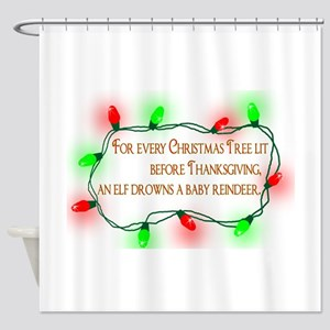 Elfing Christmas Shower Curtain
