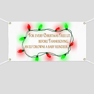Elfing Christmas Banner