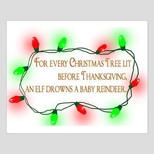 Elfing Christmas Posters