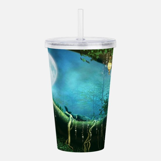 Enchanted Forest Acrylic Double-wall Tumbler