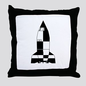 V2 German World War 2 Rocket Cartoon Throw Pillow