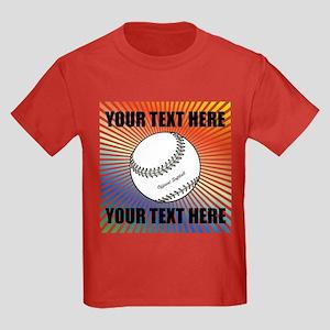 Personalized Softball Kids Dark T-Shirt