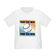 Personalized Softball Toddler T-Shirt