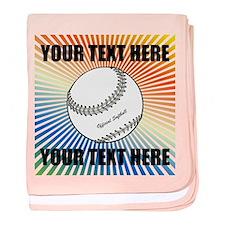 Personalized Softball baby blanket