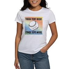 Personalized Softball Women's T-Shirt