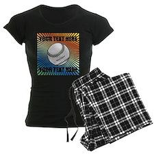 Personalized Softball Women's Dark Pajamas