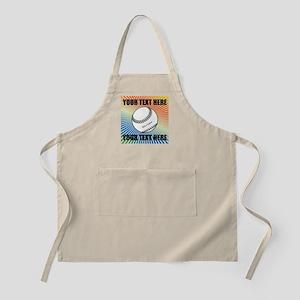 Personalized Softball Apron