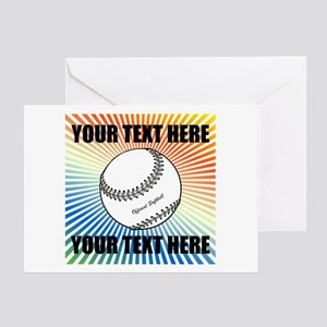 Personalized Softball Greeting Card