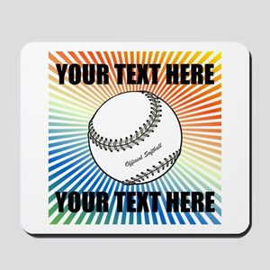 Personalized Softball Mousepad