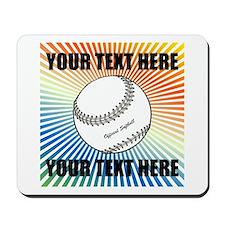Personalized Softball Mousepad