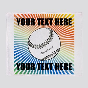 Personalized Softball Throw Blanket