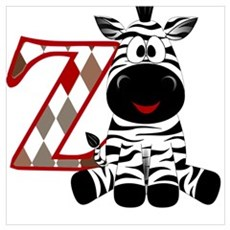 Z is for Zebra Canvas Art