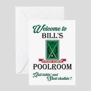 BILL'S POOLROOM Greeting Cards