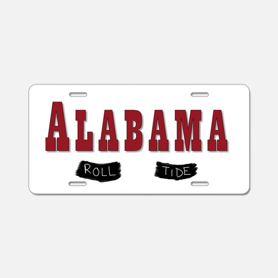 Alabama Crimson Tide Aluminum License Plate