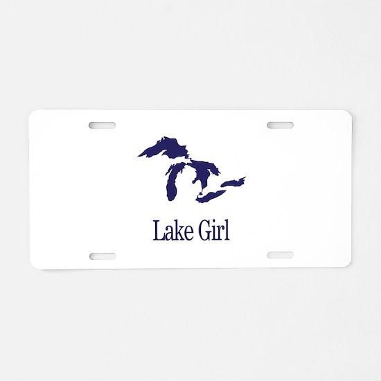 Unique Lake Aluminum License Plate