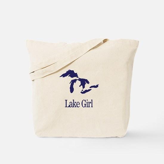 Cute Lake girl Tote Bag