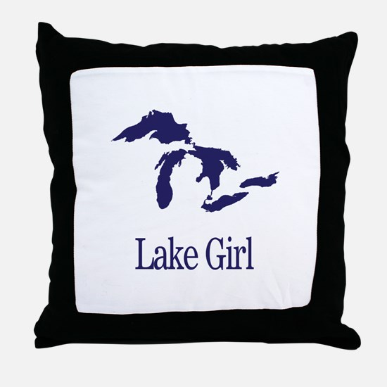 Funny Great lakes Throw Pillow
