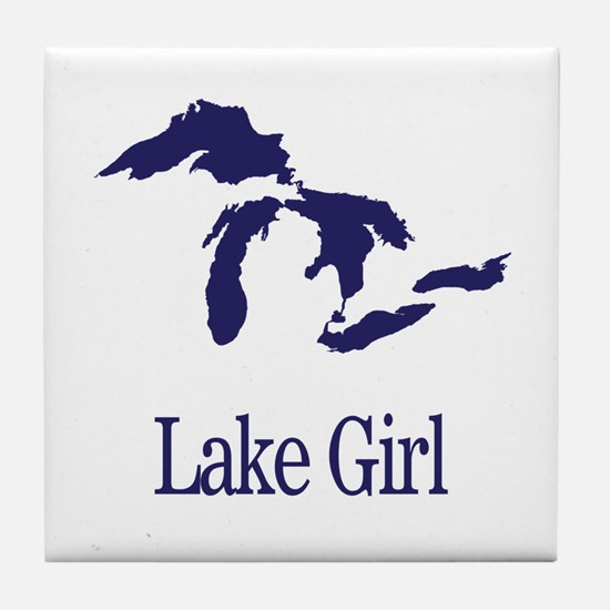 Cute Lake Tile Coaster